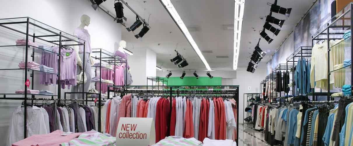 Retail store lighting, lighting solutions for shops