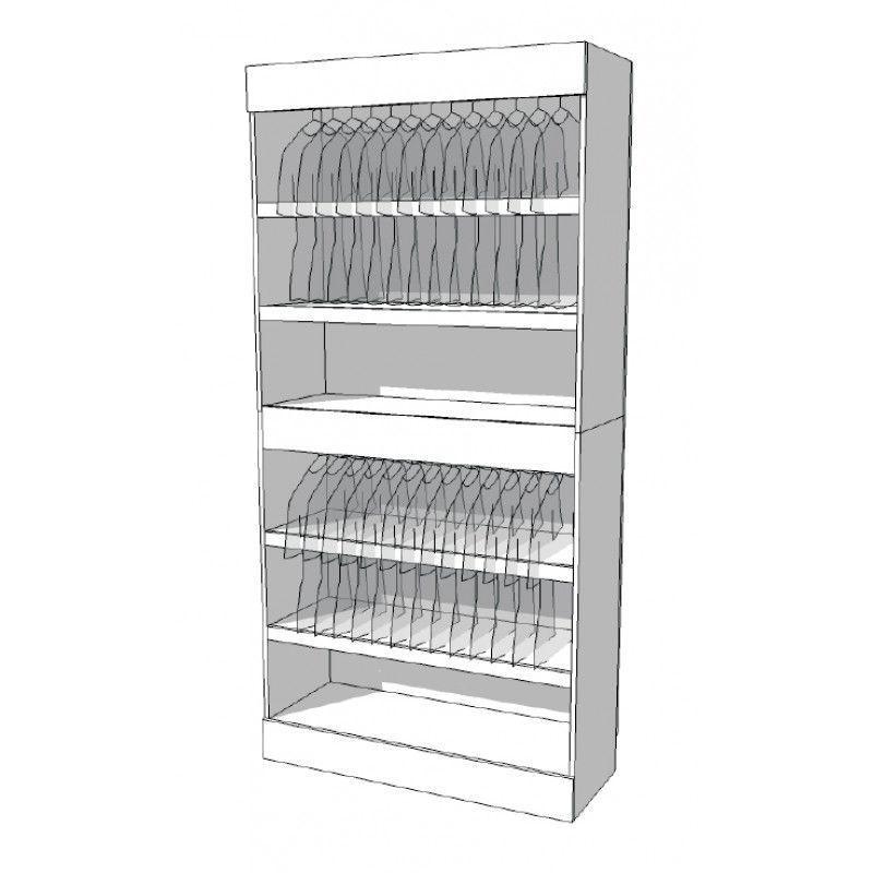 Armoire penderie pro S-R-PR-001-A : Mobilier shopping