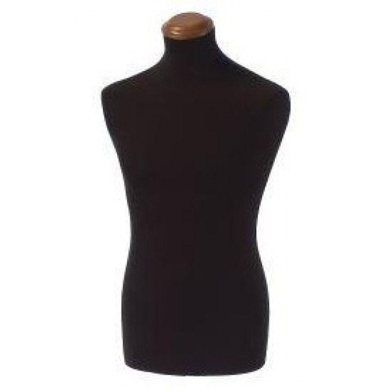 Buste homme tissu noir capuchon bois beige : Bust shopping