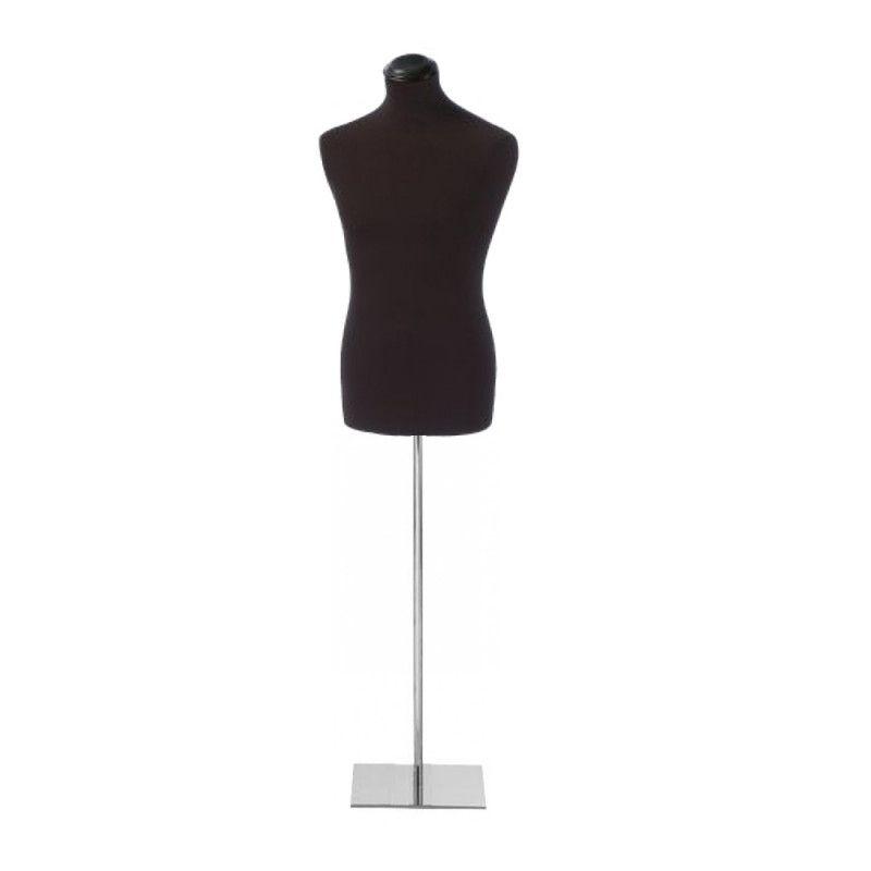 Buste tissu homme avec base chromée rectangulaire : Bust shopping