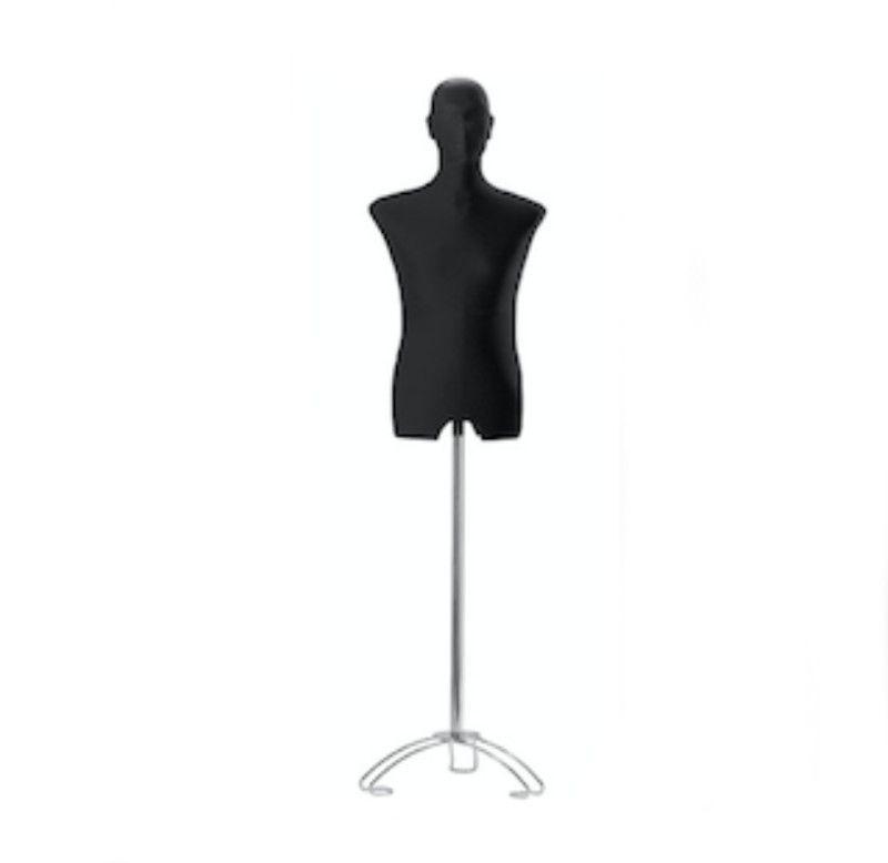 Buste tissu mannequin homme noir : Bust shopping
