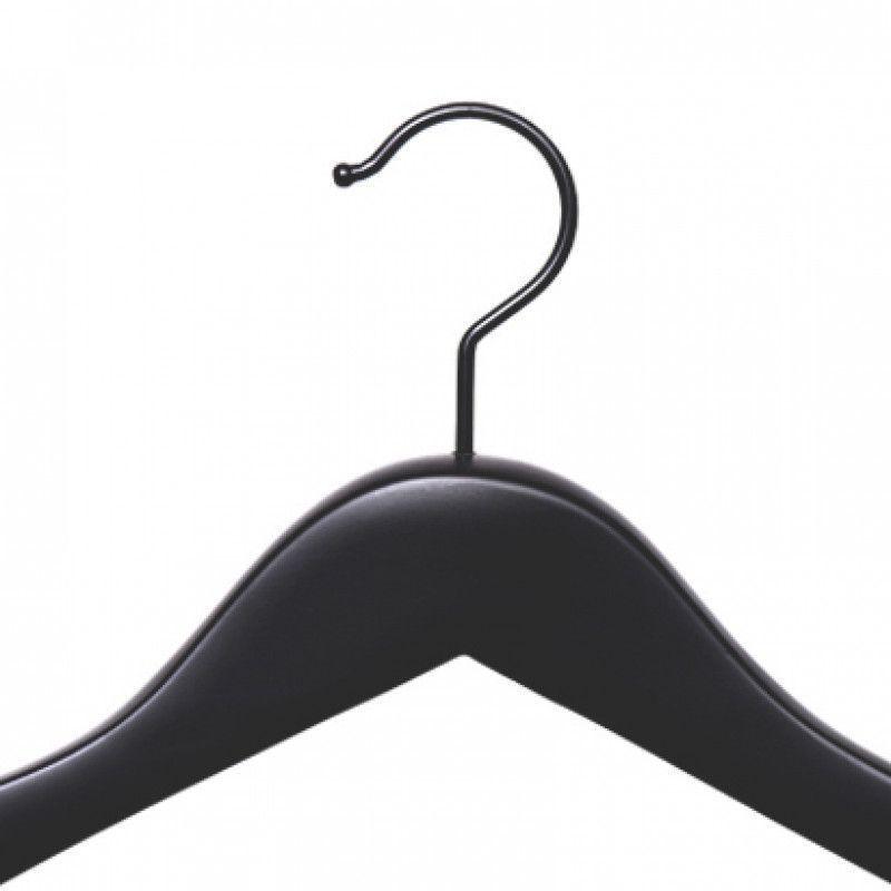 Cintre bois noir bois cintrede avec noirs crochet NEUF