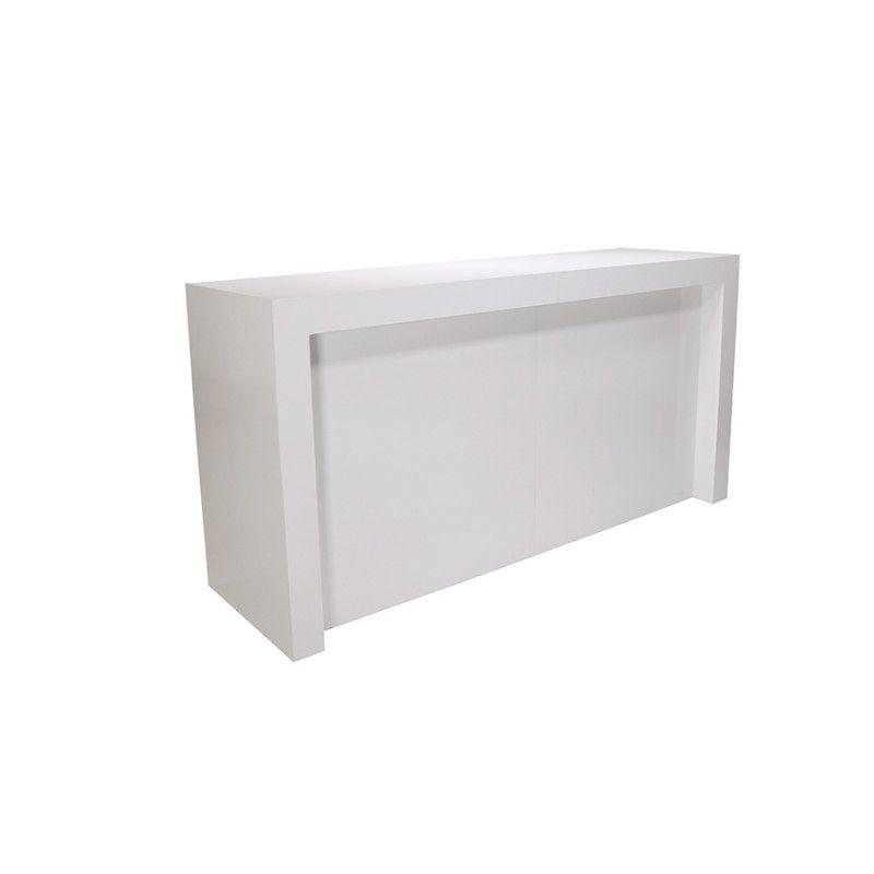Comptoir à angle blanc brillant : Comptoirs shopping
