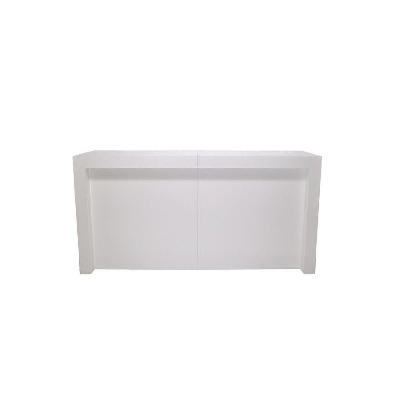 Image 1 : Comptoir moderne à angle blanc brillant ...