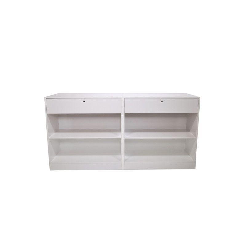 Image 3 : Comptoir moderne à angle blanc brillant ...