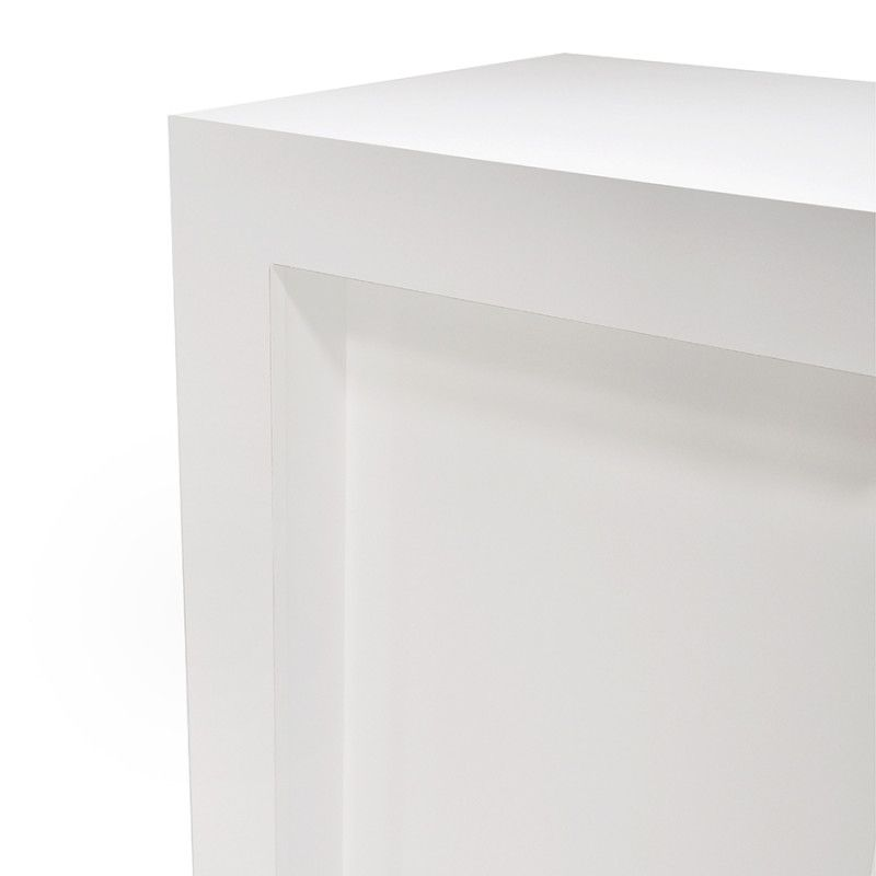 Image 4 : Comptoir moderne à angle blanc brillant ...