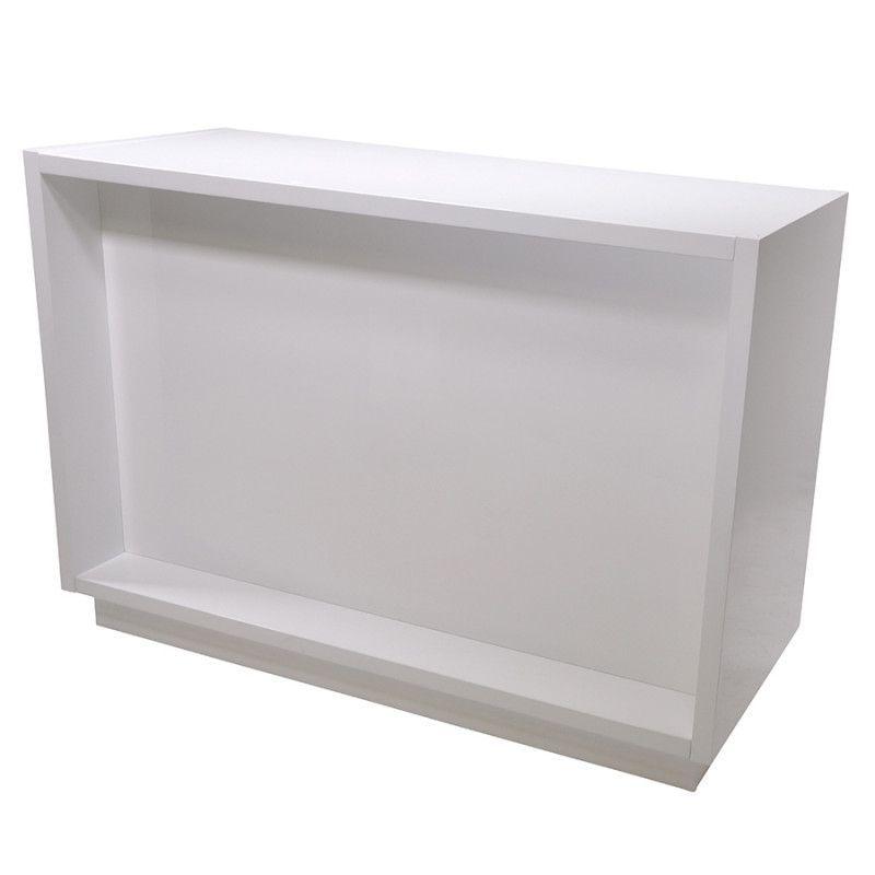 Comptoir droit blanc 143cm : Comptoirs shopping