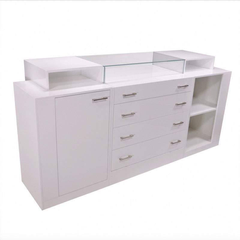 Image 1 : Comptoir pour magasin blanc brillant ...
