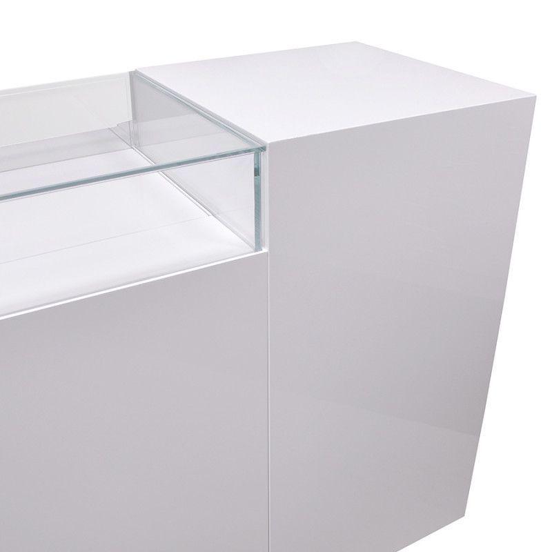 Image 2 : Comptoir pour magasin blanc brillant ...