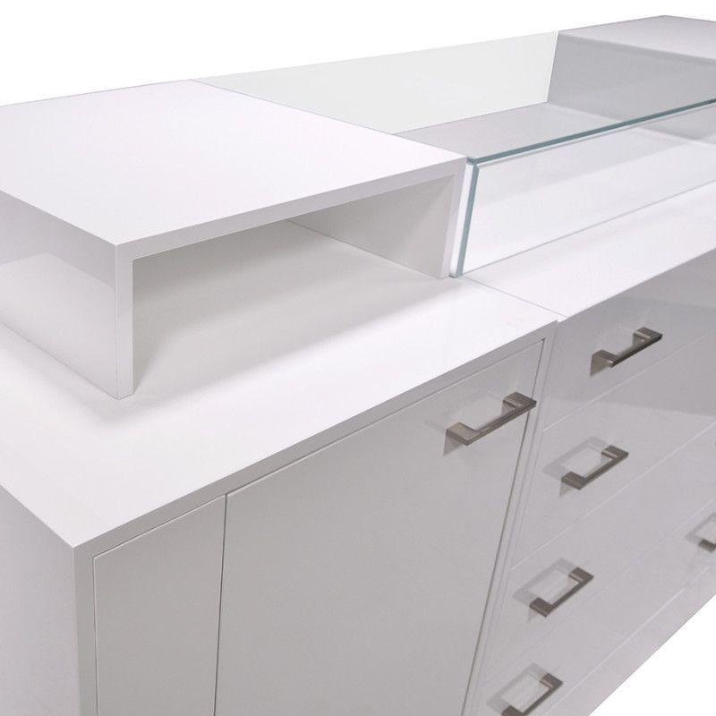 Image 3 : Comptoir pour magasin blanc brillant ...