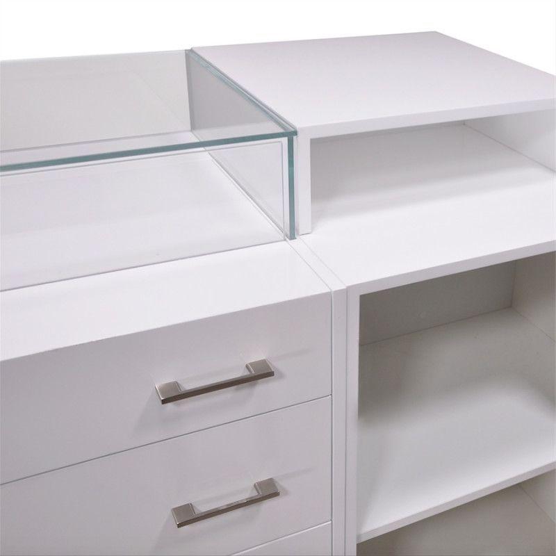 Image 4 : Comptoir pour magasin blanc brillant ...