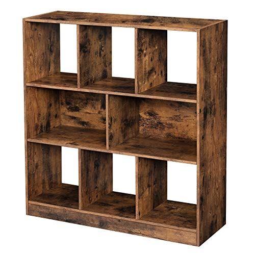 etagere de rangement cube coloris bois