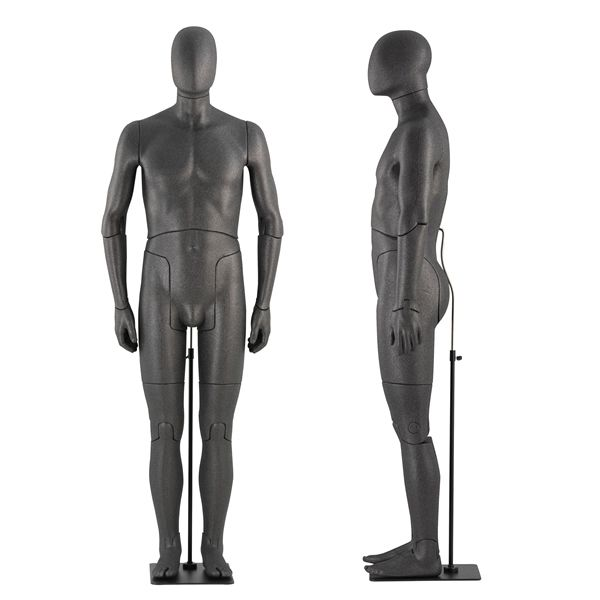 Flexible male mannequins with abstrack head : Mannequins vitrine