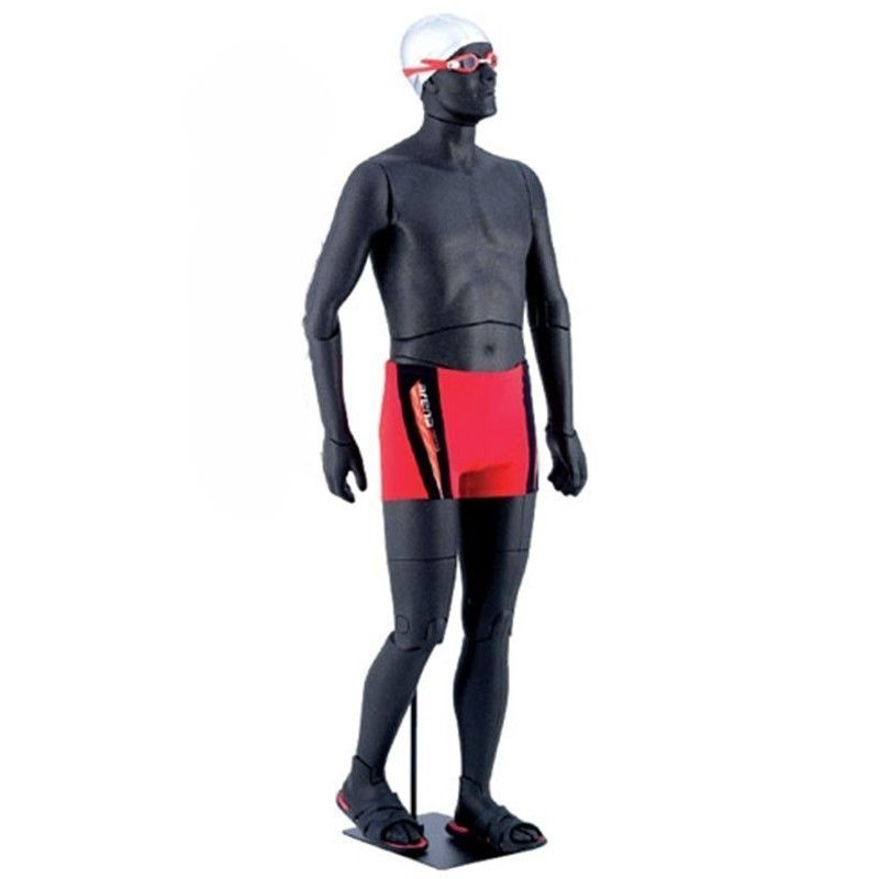 Image 4 : Flexible male mannequin in black ...
