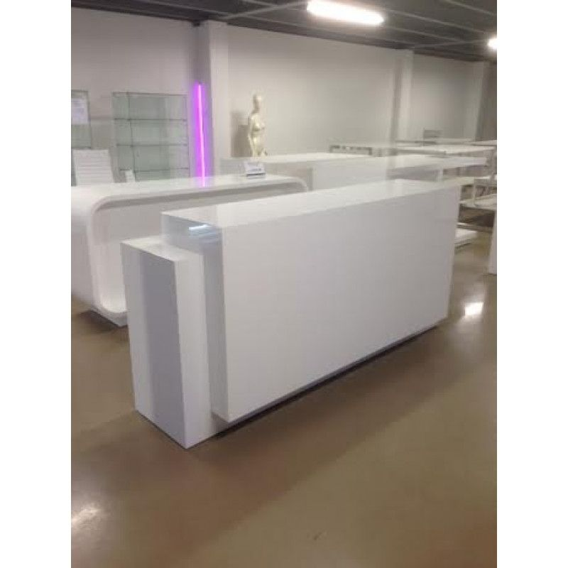 Wooden White Glossy Counter