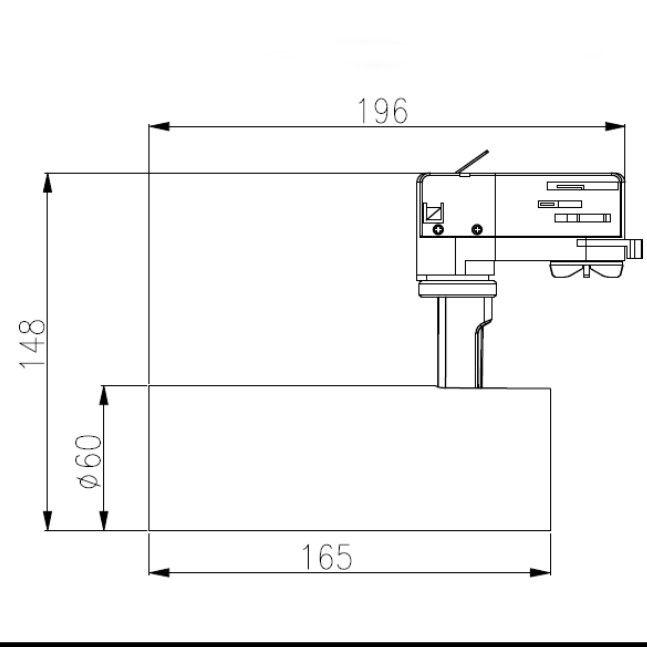 Image 4 : Tracklight trifase compatto in alluminio ...