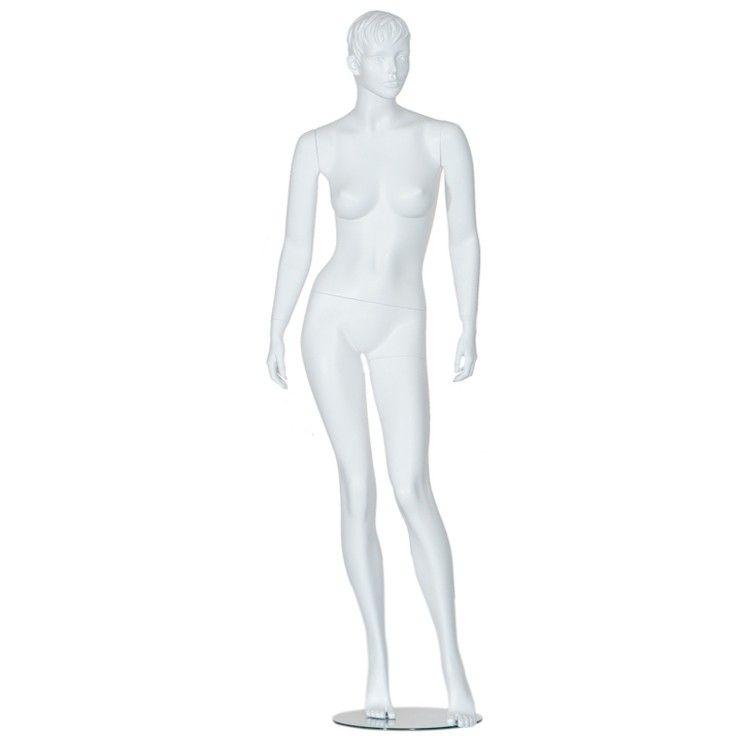 Manichini donna stilizzata bianca 182 cm : Mannequins vitrine