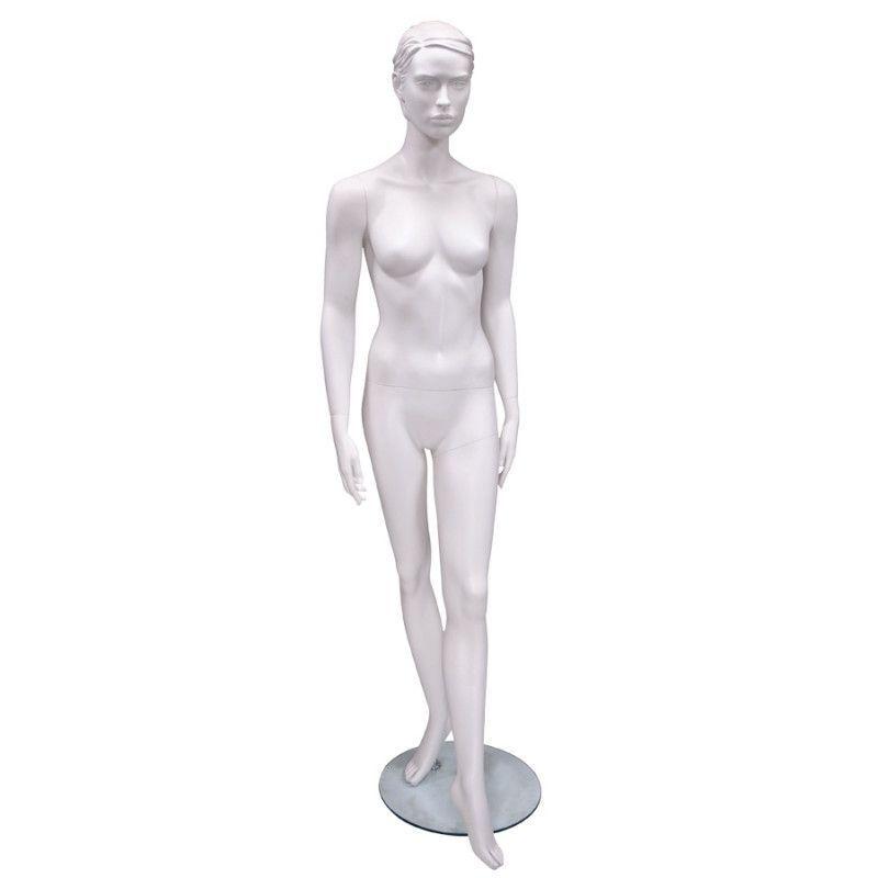 Manichino bianco donna con testa : Mannequins vitrine