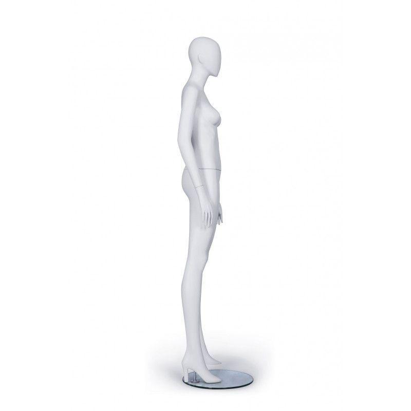 Image 2 : Mannequin femme de couleur blanche ...