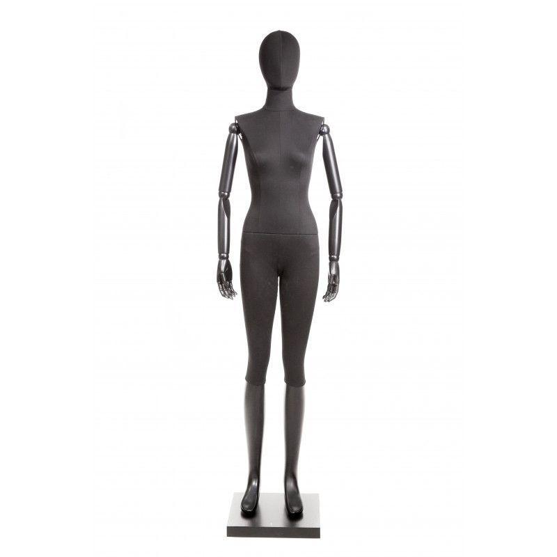 Mannequin femme vintage tissus noir : Mannequins vitrine