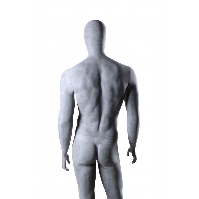 Image 1 : Mannequin de vitrine gris ciment ...