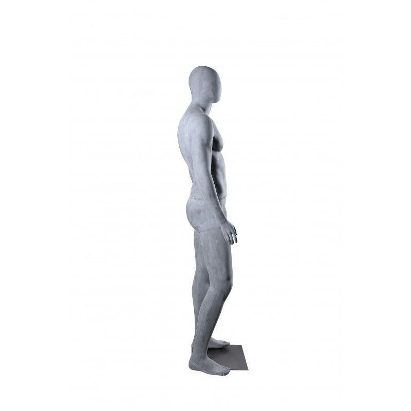 Image 2 : Mannequin de vitrine gris ciment ...