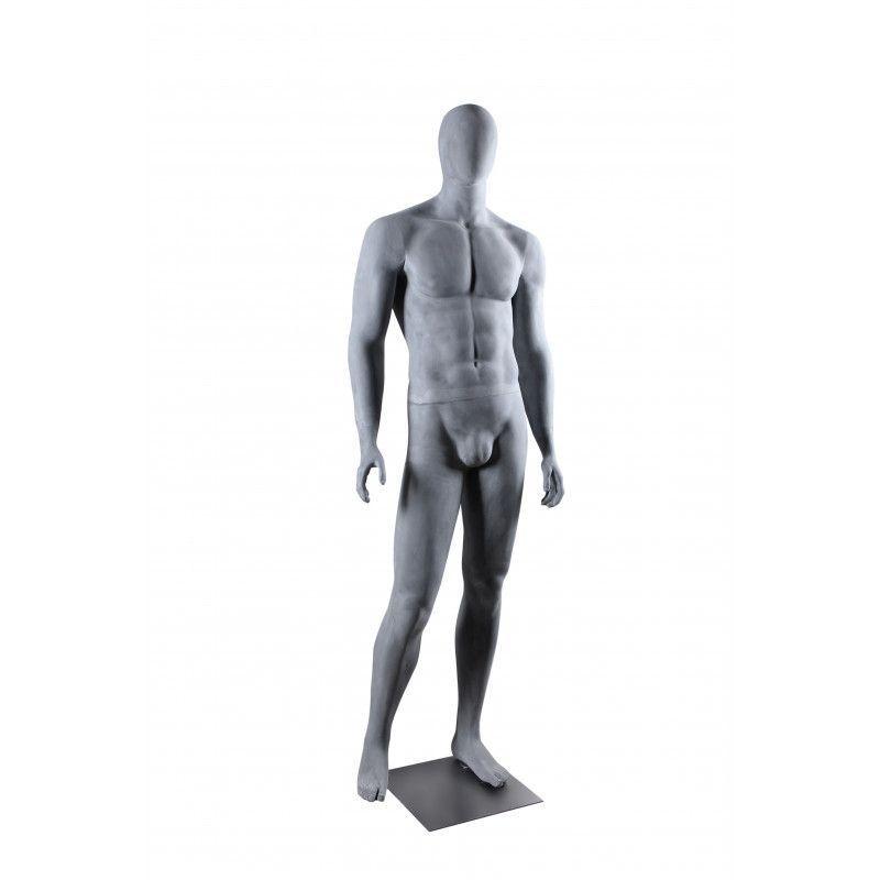 Image 3 : Mannequin de vitrine gris ciment ...