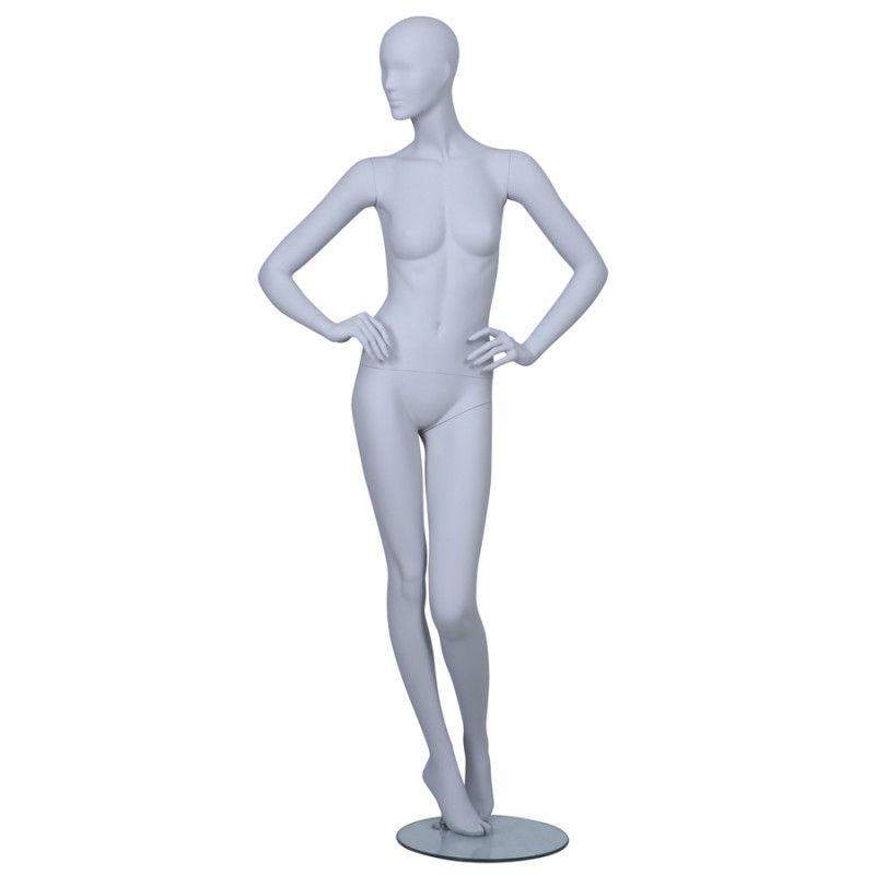 Mannequin vitrine femme tête abstraite ICE02 : Mannequins vitrine