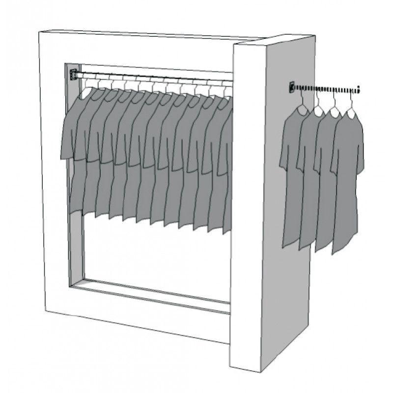 Penderie magasin vêtement R-PR-007 : Portants shopping