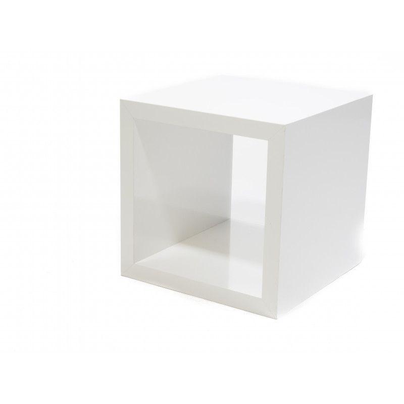 Podium blanc brillant 40x40x40 cm : Mobilier shopping