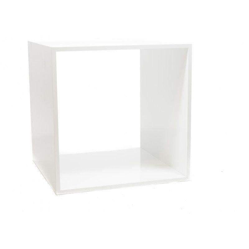 Podium presentation blanc glossy 85x85x85cm : Mobilier shopping
