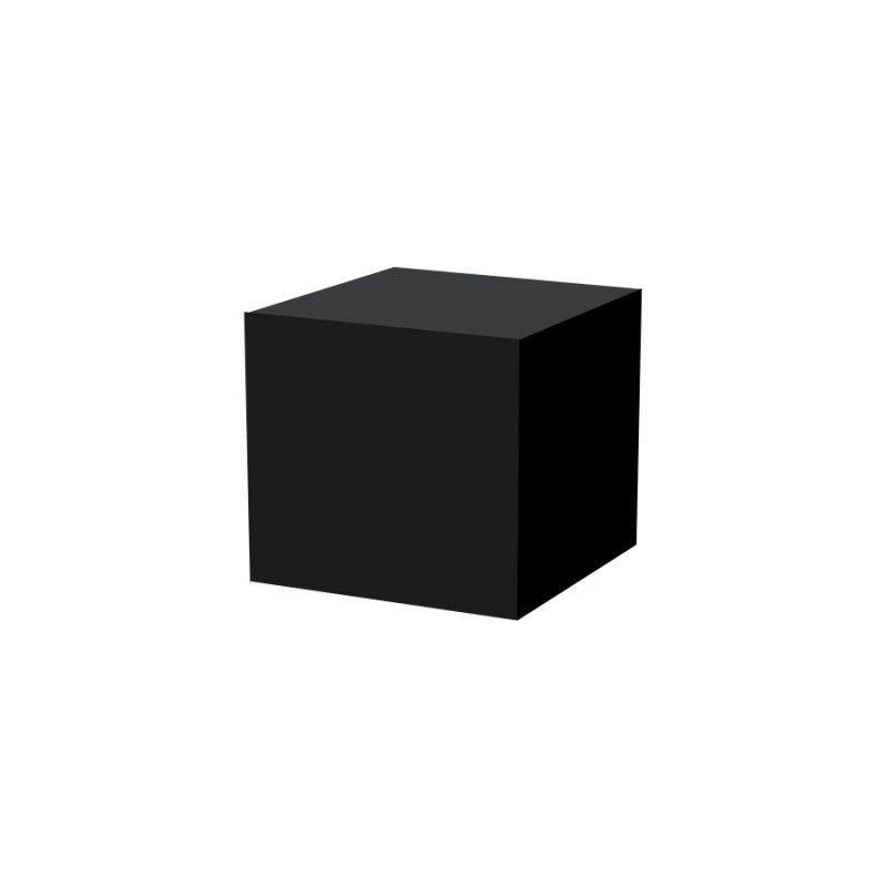 Podium noir 50x50X50cm : Mobilier shopping