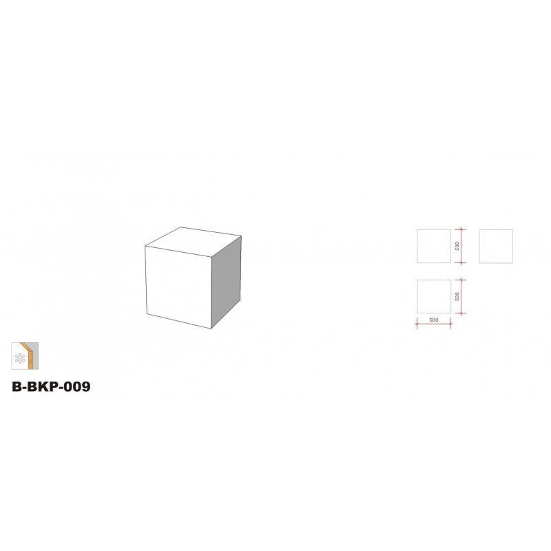 Image 1 : Podium noir 50 x 50 ...