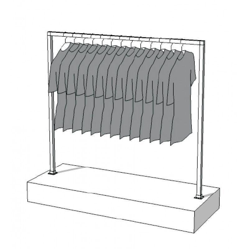 Image 3 : Portant vêtement chromé avec ...
