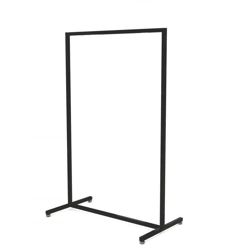 Portant droit en métal noir largeur 90 cm : Portants shopping