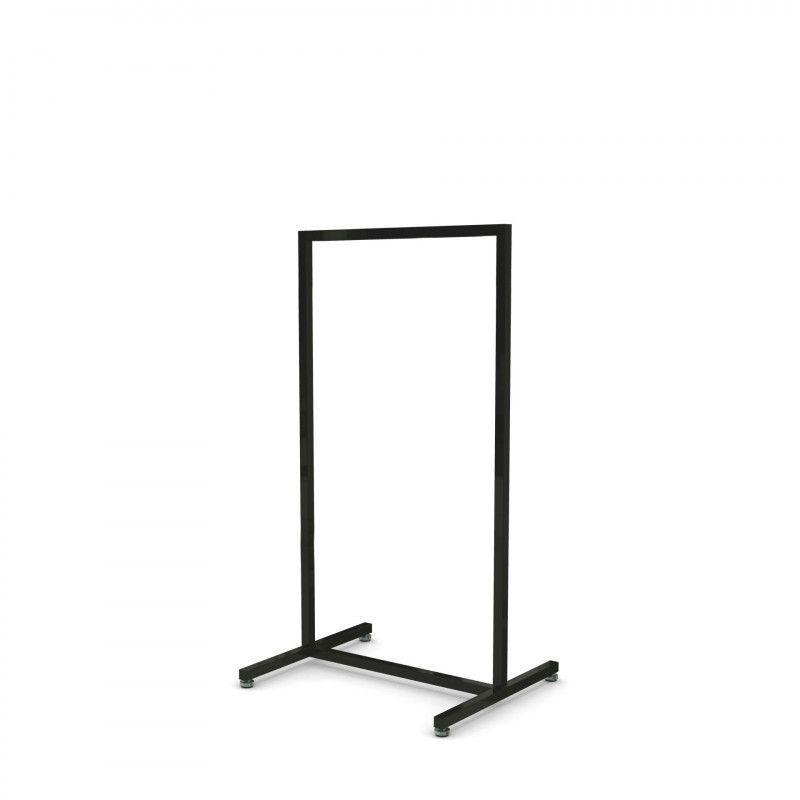 Portant magasin métal noir 60 cm : Portants shopping