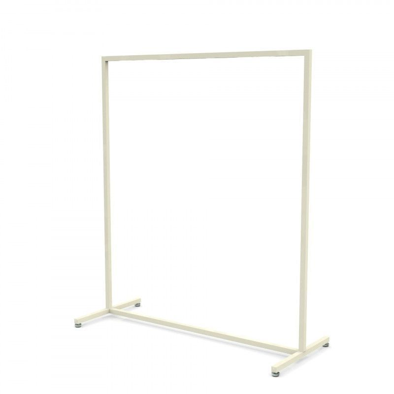 Portant métal blanc 120 cm : Portants shopping