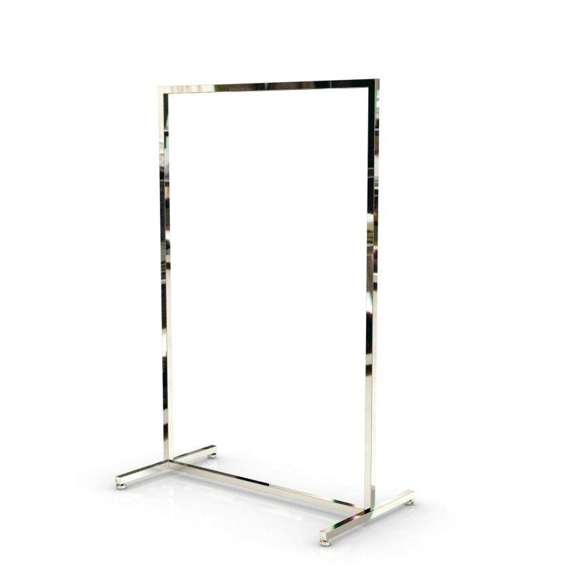 portant pour vetement droit avec finition chrome 90 cm. Black Bedroom Furniture Sets. Home Design Ideas