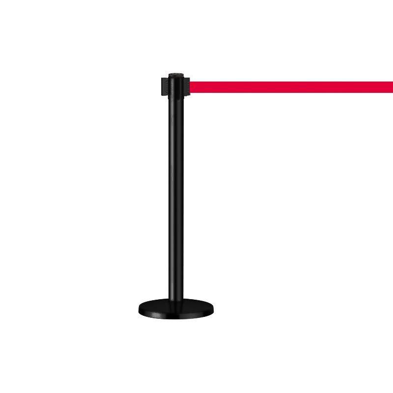 Poteaux de balisage à sangle rouge : securite shopping