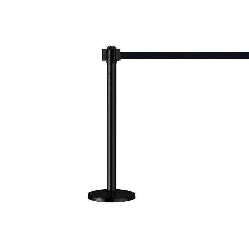 Poteaux guidage mobile métal noir : securite shopping