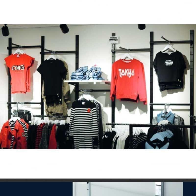 Image 3 : Presentoir mural pour magasin. Gondole ...