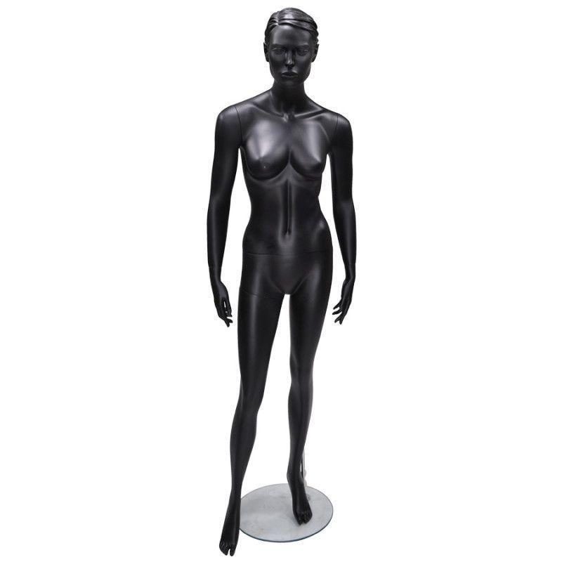 Stehen damen schaufensterfiguren schwarz farbe : Mannequins vitrine