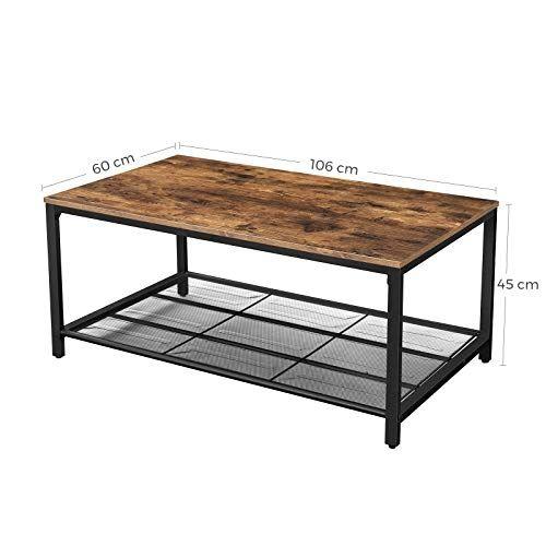 Tavolino Design Industriale In Legno Rustico