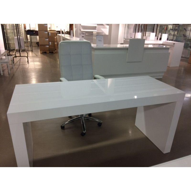 tavolo da ufficio bianco gloss in legno