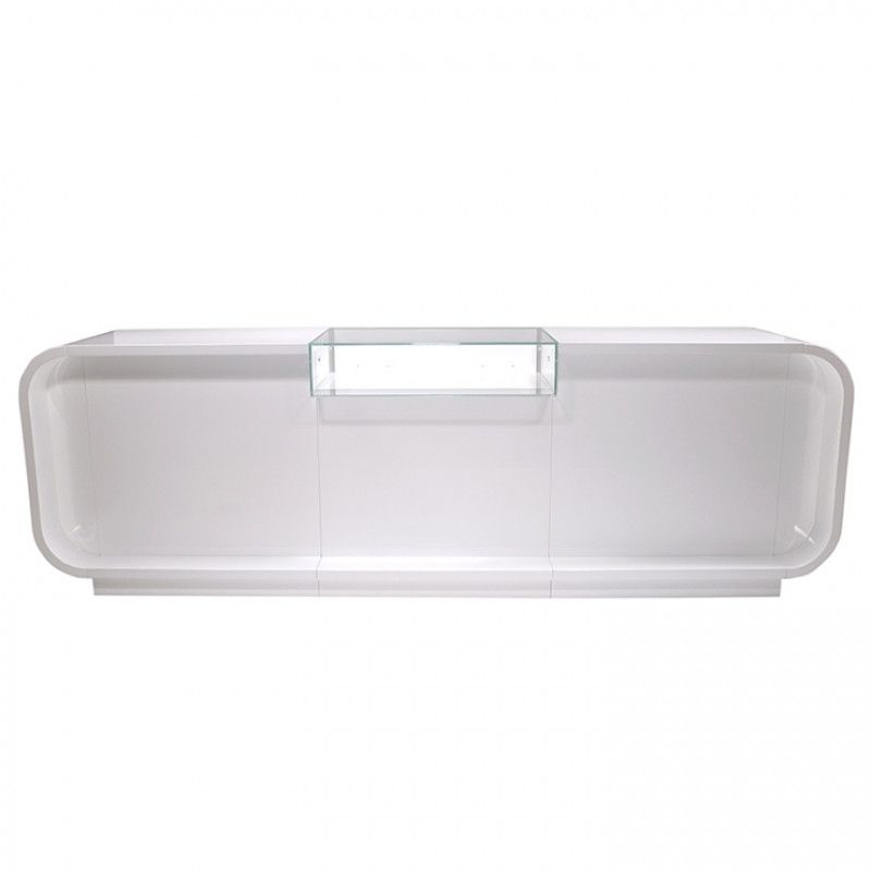 Very Large White Shop Counter 310 Cm