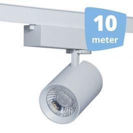 Spots sur rail 10 Spots eos blanc led  rail 10 metres`32w 3000 lumens Spots