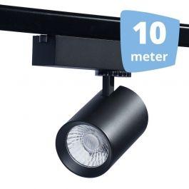Spots sur rail 10 Spots eos noir led  rail 10 metres`32w 3000 lumens Spots