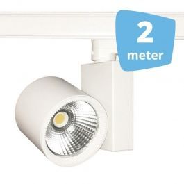 PROFESSIONELL SPOT LAMPEN : 2x led 30w schienenstrahler 3-phase weiss