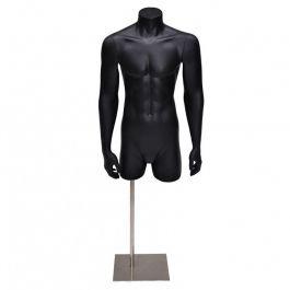 BUSTI DI MANICHINI UOMO - BUSTI E PIEDISTALLI : 3/4 busto uomo con braccio color nero