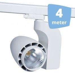 PROFESSIONELL SPOT LAMPEN - CLUSTER-SPOTS LED : 4 weiss cluster-spots led 4 meter